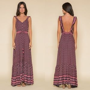 Anthropologie Raga Avah Petite Maxi Dress